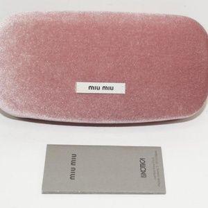 d74f303d390f Miu Miu Accessories - Miu Miu Pink Velvet ClamShell Hard Sunglasses Case